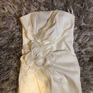White Cache Formal Mini Dress